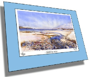 Mounted print of beach scene